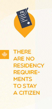 There Are No Residency Requirements To Stay A Citizen