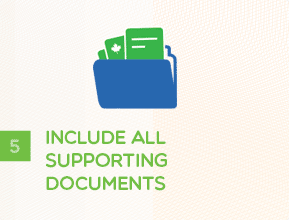 Step 5 - Include All Supporting Documents